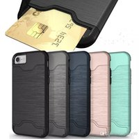 Card Slot Case For iPhone X 8 Samsung s9 plus Armor case har...