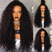 Full Lace Wigs Kinky Curly Human Hair 180% Density Natural H...