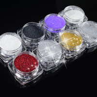 Hot selling 2g Box 8 colors Holographic Nail Glitter Powder ...