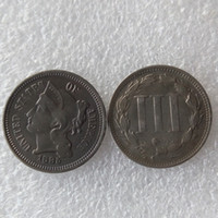 الولايات المتحدة 1885 ثلاثة سنت النيكل عملة النسخ عملات زينة المنزل الملحقات