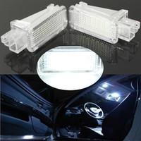 2x Plug and Play Instalación simple Licencia LED puerta de coche vehículo de turismo láser Logo proyector de luz de la lámpara 18SMD equipaje para AUDI / VW / SKODA Lambo