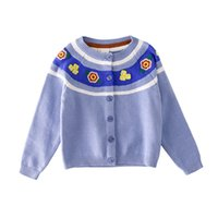 Autumn New Children Girls Knit Cardigan 2018 Flower embroide...