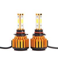 9005 HB3 H8 H11 LED 전조등 전구 8000LM 60W 차가운 백색 6000K 낮은 빔 / 높은 빔 / 안개등 교체 360 ° 4 측면 COB 칩 슈퍼 브라이트 램프