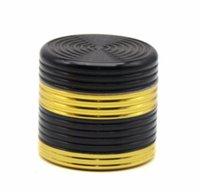 Nueva aleación de aluminio de color negro dorado Cigarrillo Mill diámetro 40mm hilo detector de humo de cuatro capas