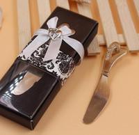 نشر الحب على شكل قلب مقبض الموزعات الموزعة زبدة السكاكين سكين هدية عرس الحسنات SN397