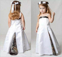 Lovely Camo Flower Girls Dresses per Wedding Spaghetti Strap Child Party Forest Flower Girl Wear Kids Pageant Gowns Custom Made
