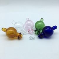 6mm Quarz Terp Dab Perlen und bunte Glas Bubble Carb Cap Einsatz mit Seitenloch für Quarz Thermal Banger Nägel Glas Wasser Bongs