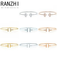 RANZHI 100% 925 Sterling Silver Genuine Charm Classic T- Zirc...
