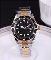 Berühmte Luxusuhren des Luxus-Luxusuhren Relogio Masculino Mens passt Luxus-Armbanduhren-Art- und Weiseschwarzes Vorwahlknopf mit Kalender-vollem Edelstahl auf