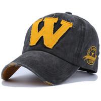 2018 Cotton Stickerei Buchstabe W Baseballmütze Hysteresen-Kappen Knochen Casquette Hut für Männer Individuelle Kappen
