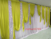 3m high*6m wide(10ft*20ft) Wedding Curtain Backdrops with Se...