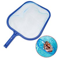 Kostenlose professionelle blaue Kunststoff Rake Mesh Clean Swimming Pool Tool Blatt Skimmer Net Cleaner Swimmingpool Spa Mesh Tool
