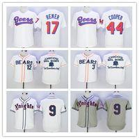 Bester der BASEketball Bier-Trikots Baseball 17 Doug Remer 44 Joe COOP Cooper BASEketball weiße Knopf-Hemden Graues 9 Roy Hobbs Jersey