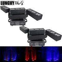 2 stks / partij 9 * 10W RGBW 4IN1 LED Deformatie Matrix Beam Moving Head Light for Stage Theatre Disco Nightclub