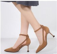 Summer Autumn Women Shoes Pointed Toe Pumps Micro suded thin...