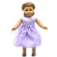 Doll Accessories American Girl Dolls Clothes 14 Colors Princess Skirt Dress Cosplay for 16- 18 inch Dolls Girl Gift X-47