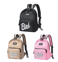 Pink Letter Backpack Students School Bags Waterproof Outdoor...