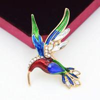 İnanılmaz Renkler Emaye Güzel Kuş Broş Sıcak Satış Kadınlar Başörtüsü Aşınma Pin Erkekler Ve Kadınlar Için Sevimli Kuş Yaka Broş Pin