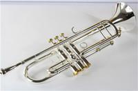 Neue kostenlose senior bach versilbert trompete lt197g kleine messing musikinstrument trompeta professionelle high grade.