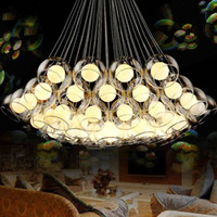 Modern art glass chandelier led pendant light for living roo...