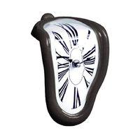 90 градусов Время изгиба 3D оригинальность стены Цифровая поверхность плавильного помещения металлический акриловый зеркал сиденья часы механизма украшения