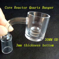 30mm XXL Flat Top Quartz Banger Nail con fondo spesso 3mm 2mm Thick Honey Bucket 10mm 14mm 18mm Core Reactor Banger