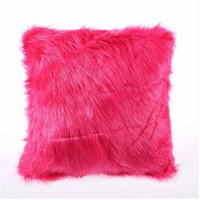 Comfortable lovely Cushion Cover Luxury Soft Faux Fur Fleece...