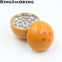 Dragon Ball Herb Grinder 52MM Confezione regalo 3 strati Confezione da 4 stelle Dragon Ball Tabacco Grinder T-162GM