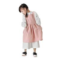 الأطفال القطن المئزر الأطفال الفنان المئزر مآزر المطبخ الطلاء مآزر مقاومة للماء مع جيوب 2 موحدة للطبخ ، الخبز ، اللوحة