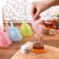 Пластиковые Большой Воронка Бытовая Масло чайник Малый и Большой 2 шт Pack Leak Профилактика Мини Вино чайник Нефть Воронка