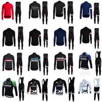 Rapha Orbea Team 2020 Ciclismo Maniche lunghe Jersey Bib Pants Set Men Quick Dry Ropa Ciclismo MTB Vestiti Abbigliamento da corsa Abbigliamento C626-129