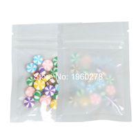 6.5x9 cm (2.5x3.5in) 100 adet Sil / Beyaz / Beyaz Küçük Saydam PE Düz Paket Kılıfı Fermuarlı Zip Kilit Plastik Saklama Torbaları