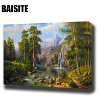 BAISITE Çerçeveli Morden Deniz Manzarası Sayılar Tarafından DIY Yağlıboya PaintingCalligraphy Dekor Duvar Sanatı E800 40x50 cm