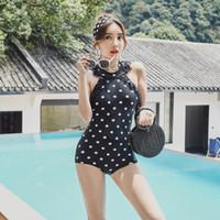 Maillot de bain sexy printemps chaud maillot de bain couvrir maillot de bain maillot de bain une pièce noir imprimé blanc