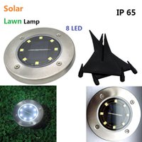 8 LED Solar Lawn Lamps Outdoor Ground Lamp IP65 Waterproof L...