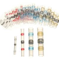 50pcs (Quattro formati) Impermeabile Solder Seal termorestringenti connettori di testa con saldatura accessori manica per Marine e Automobile
