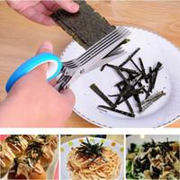 Edelstahl Scissor 5 Schichten Cutter Gehackte Grüne Zwiebel Cut Schere Kochwerkzeug Multifunktionale Küchenmesser