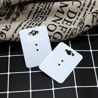 PVC 200pcs 4.5X6.2cm 쥬얼리 디스플레이 카드 귀걸이 교수형 카드 패션 링 스터드 Diplay 태그 Good Packagings