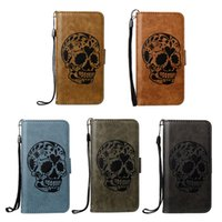 Embossing Skull Head Leather Flip Case For Apple iPhone X 5 ...