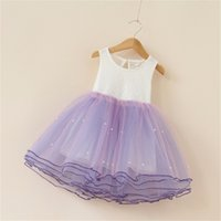 Petali Disegni Girl Dress Bambini Party Costume Kids Eventi formali Vestidos Infant Tutu Flower Dress Fluffy Wedding Gown