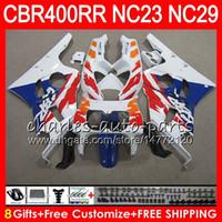 Kit para HONDA CBR400 RR NC23 CBR400RR 88 89 90 91 92 93 80HM23 CBR 400 RR NC29 Stock azul! CBR 400RR 1988 1989 1990 1991 1992 1993 Fairing