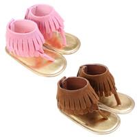 Sommer Neugeborenes Baby Mädchen Sommer Quaste Krippe Schuhe Mädchen Anti-Rutsch Prewalker 0-18 Monate 2 Farben Verfügbar Baby Prewalker Schuhe