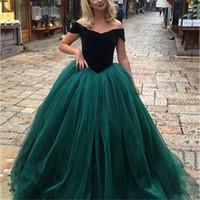 Charming Cap Sleeve Dunkelgrün Tüll Abend Party Kleid Formale Prom Kleider Spezielles Kleid Wunderschöne Sweetheart Ballkleid Prom Kleider