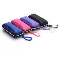 4 colors Rectangle sunglasses case pressure- proof zipper cru...