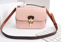 AAA M51952 21cm Cherrywood BB Patent Cowhide Leather Bag, Can...