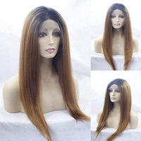 150% Density 1B 27# Ombre Color Lace Front Human Hair Wigs W...