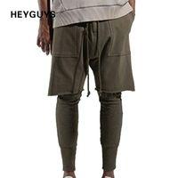Heyguys 2017 Fashon Fitness Long Pantalon Hommes Casual Pantalons De Jogging Baggy Jogger Pantalon De Mode Équipé Bas Streetwear Hiphop