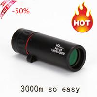 Vendita calda HD 30x25 Monoculare Telescopio Binocolo Zoomando Focus Green Film Binoculo Caccia ottica Caccia ottica Ambito del turismo di alta qualità