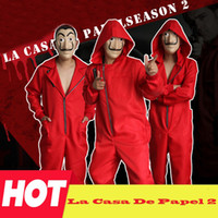 Seconda stagione Movie Costume Money Heist The House of Paper La Casa De Papel Cosplay costumi originali del film spagnolo con maschera facciale