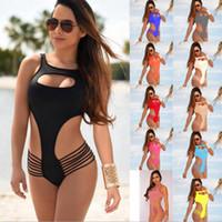 2018 Nowa klatka piersiowa Krzyż Pasek Dwuczęściowy Seksowny Bikini Lady Beach Bikini Set Split Swimsuit 2018 Brazylijski Damska Swimsuits Darmowa Wysyłka